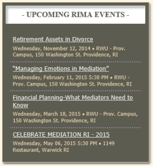 RIMA Upcoming Events